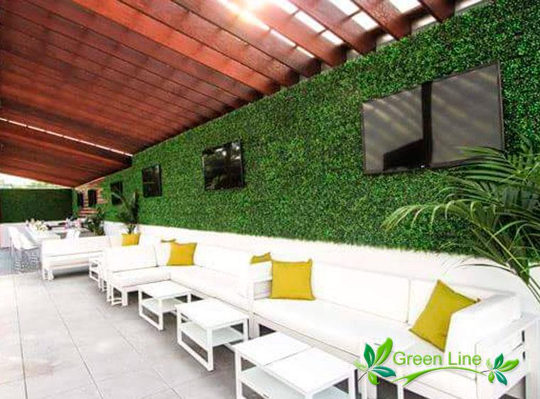 Green Line Muro De Ideas De Follaje Artificial Follaje